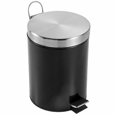 3 Litre Pedal Bin Stainless Steel Bathroom Kitchen Waste Small By Home Discount
