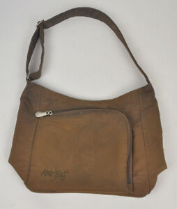 AMERIBAG-Catskill-WILLOW-Shoulder-Bag-PURSE-Chocolate-BROWN-Organizer-USED