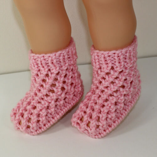 PRINTED KNITTING INSTRUCTIONS-TODDLER  CHUNKY LACE BOOTS KNITTING PATTERN