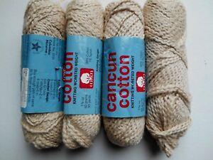 4-skeins-Cancun-Cotton-Columbia-Minerva-yarn-Birch-106