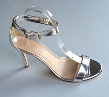 JCrew Mirror Metallic High Heel Sandals Women's 9.5 Silver Pumps Heels Summer