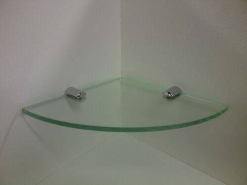 Floating Corner Shelf Chrome Brackets Acrylic Perspex Plastic