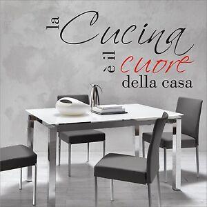 ADESIVO MURO WALL STICKERS CASA CUCINA DESIGN MODERNO SCRITTA PARETE ...