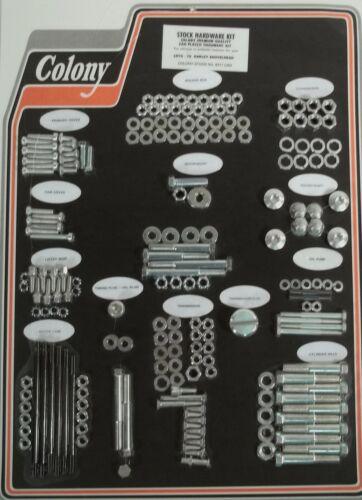 HARLEY Shovelhead Cadmium Plated Complete Hardware Kit