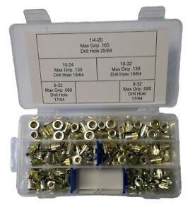 Rivet nuts 8-32 steel 25pc BUY 3 or MORE 10/% Rebate rivnut riv nut nutsert