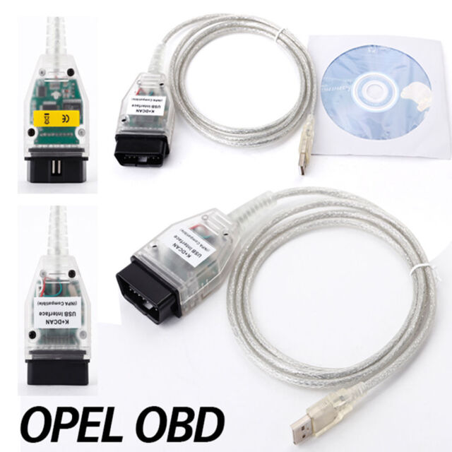 BMW OBD2 K + DCAN USB-Interface Diagnose INPA / Ediabas Stecker-Kabel-Blei