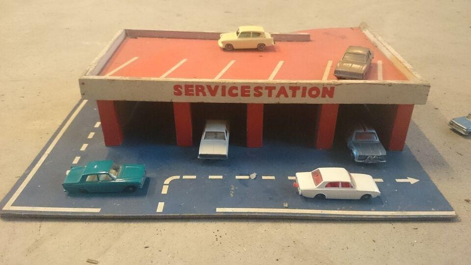 Modelbil Servicestation