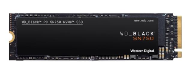 WD_Black SN750 High-Performance NVMe M.2 interne Gaming SSD 1TB