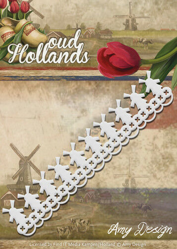 Amy Design Oud Hollands -  Molenrand - Windmühlen, Stanzschablone, ADD10052