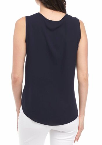 NWT NINE WEST NAVY BLUE CAREER TOP BLOUSE SIZE L SIZE XL $59