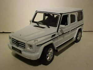 Mercedes Box Suv >> Details About Mercedes Benz G Class Suv Wagon Diecast Car 1 24 Welly 7 Inch White Loose No Box