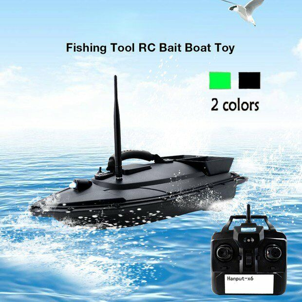 Wireless Fishing Bait RC Boats Double Motors 500m Remote Fish Finder Searchlight