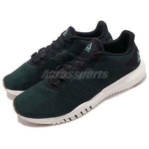 e80b83a72 Reebok Flexagon Green Black Chalk Men Cross Training Shoes Sneakers ...