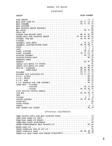 New Holland 276 Hayliner Baler Operator/'s AND Parts Manual Catalog Book NH