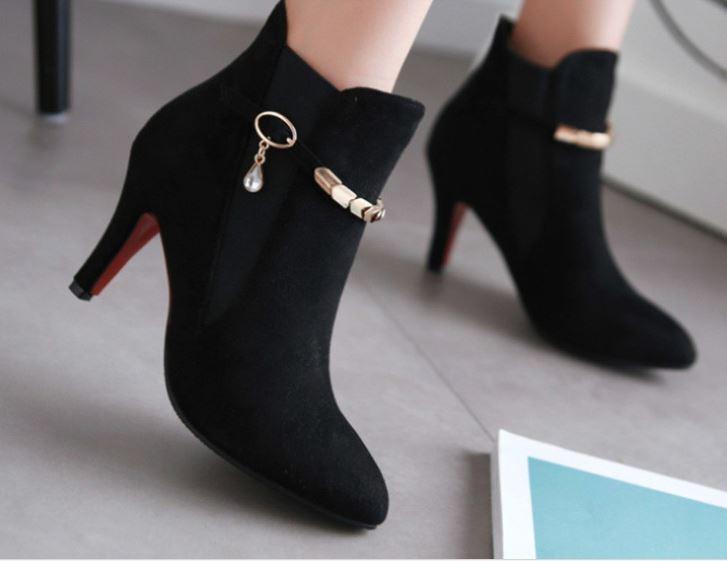 Stiefel stilett damenschuhe 8 cm schwarz komfortabel simil leder 8763  | Ausgezeichneter Wert