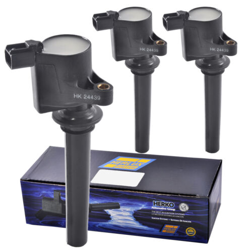 Set of 3 Herko B056 Ignition Coils For Ford Mazda Mercury V6 3.0L 1999-2008