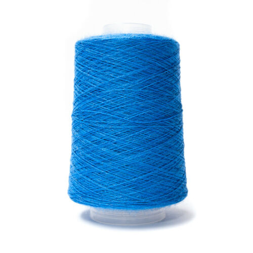 200G 2//18NM 83/% WOOL 17/% NYLON YARN BLUE