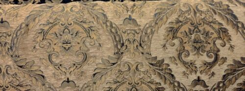 """Sold By the Yard 58/""""  wide Chenille Renaissance damask Home Decor Upholstery"""