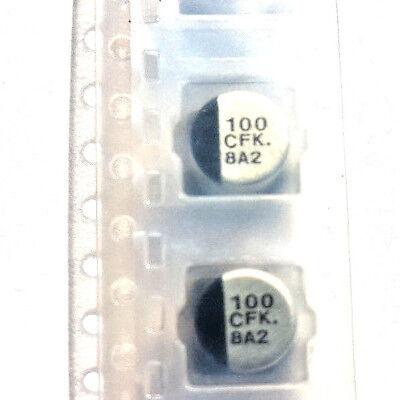 100uf 16v 105c Low ESR SMD Dia 6.3mm Panasonic EEEFK 1C101AP contrassegnato 100 CFK x2pcs
