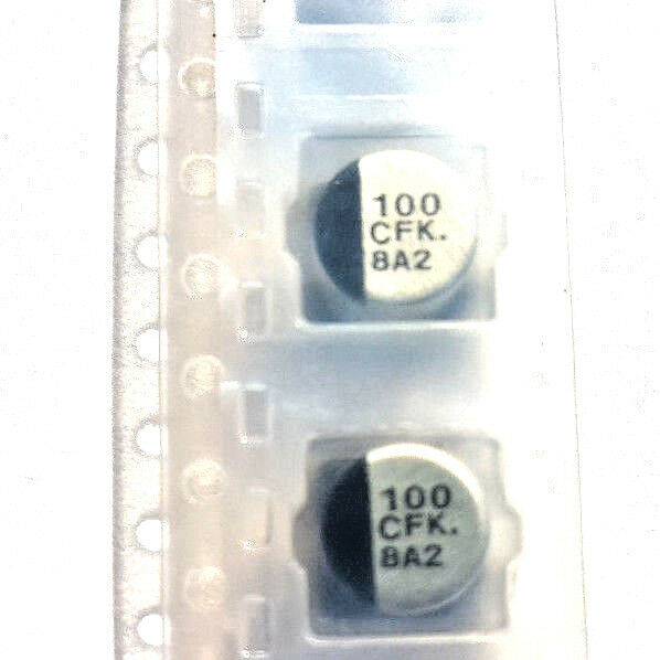 100uf 16 V 105 C Faible Esr Smd Dia 6.3 Mm Panasonic Eeefk 1c101ap Marqué 100 Cfk X2pcs Haute SéCurité