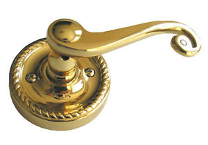 New Polish Brass Dummy Handed Lever Closet Handle Door Lock Solid Brass material