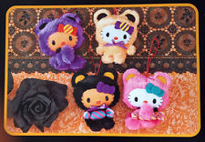 Sanrio Hello Kitty Candy Costume Plush Hanging - Assorted Colors 4pc Set (22c50)