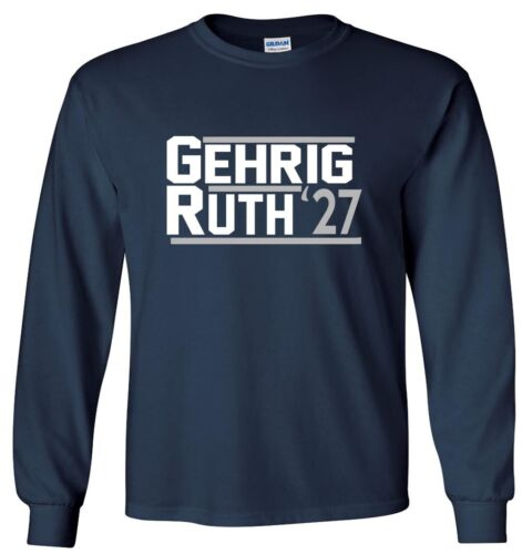 Babe Ruth Lou Gehrig New York Yankees Murders Row 1927 T-Shirt