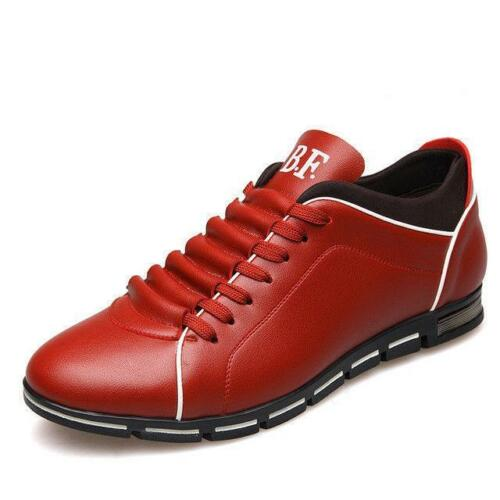 Men Luxury Leather Loafers Driving Moccasins Lace Up Business Dress Formal Shoes