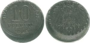 Empire Lack Coinage 10 Pfennig 1921 A, 20% Dezentriert XF