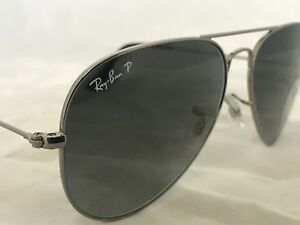 252bde84411 Ray Ban Aviator RB3025 004 78 58mm Blue- Gray Polarized Mirror ...