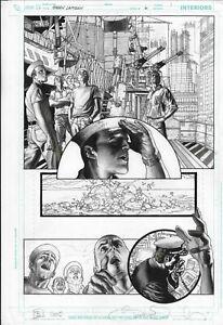 Green-Lantern-6-pg-1-Simone-Bianchi-Original-Art-2005-early-work-DC-Comics-Navy