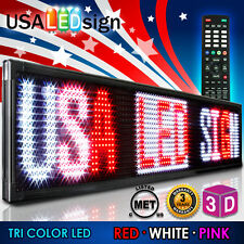 "LED Sign 3Color 78""x15"" RWP Programmable Scrolling Outdoor Message Display Open"