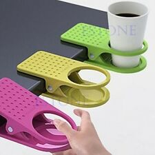 Drink Cup Coffee Holder Clip Desk Table Home Office Use