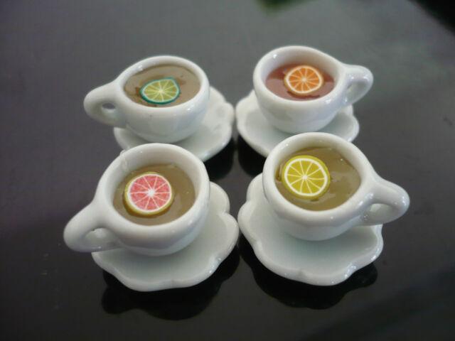 Set of 4 Bowl of  Ramen Noodles Dollhouse Miniatures Japan Food Supply Deco 3