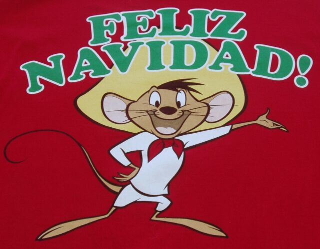 Looney Tunes Speedy Gonzales Feliz Navidad Christmas T-Shirt Men's Size 2XL Red