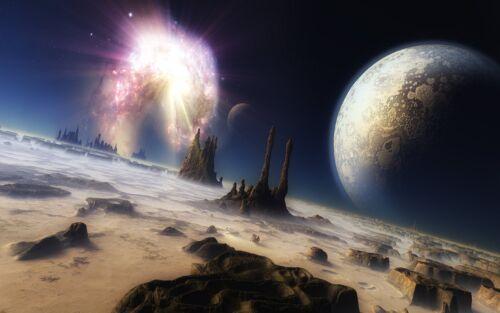 13-AZ 580 BEAUTIFUL HIGH RES DIGITAL SPACE /& PLANETS ART WALLPAPER ON CD