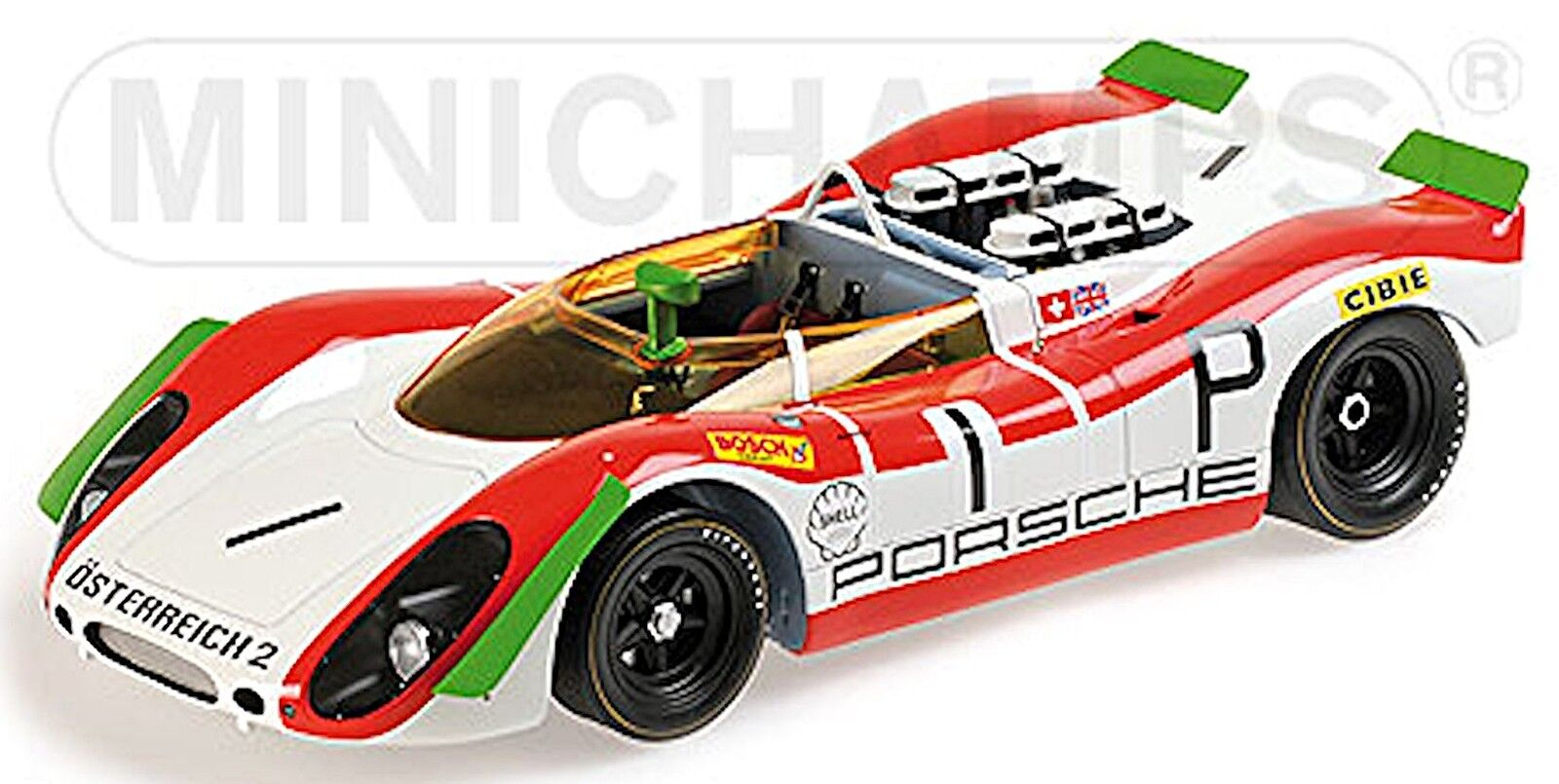 PORSCHE 908 02 SPYDER 1000 km NURBURGRING 1969  1 rossoman MAMMOLO 1 18 Minichamps