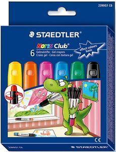 STAEDTLER Noris Club 6 Lápices de Colores Gel Suave para Niños Set Base 2390G1