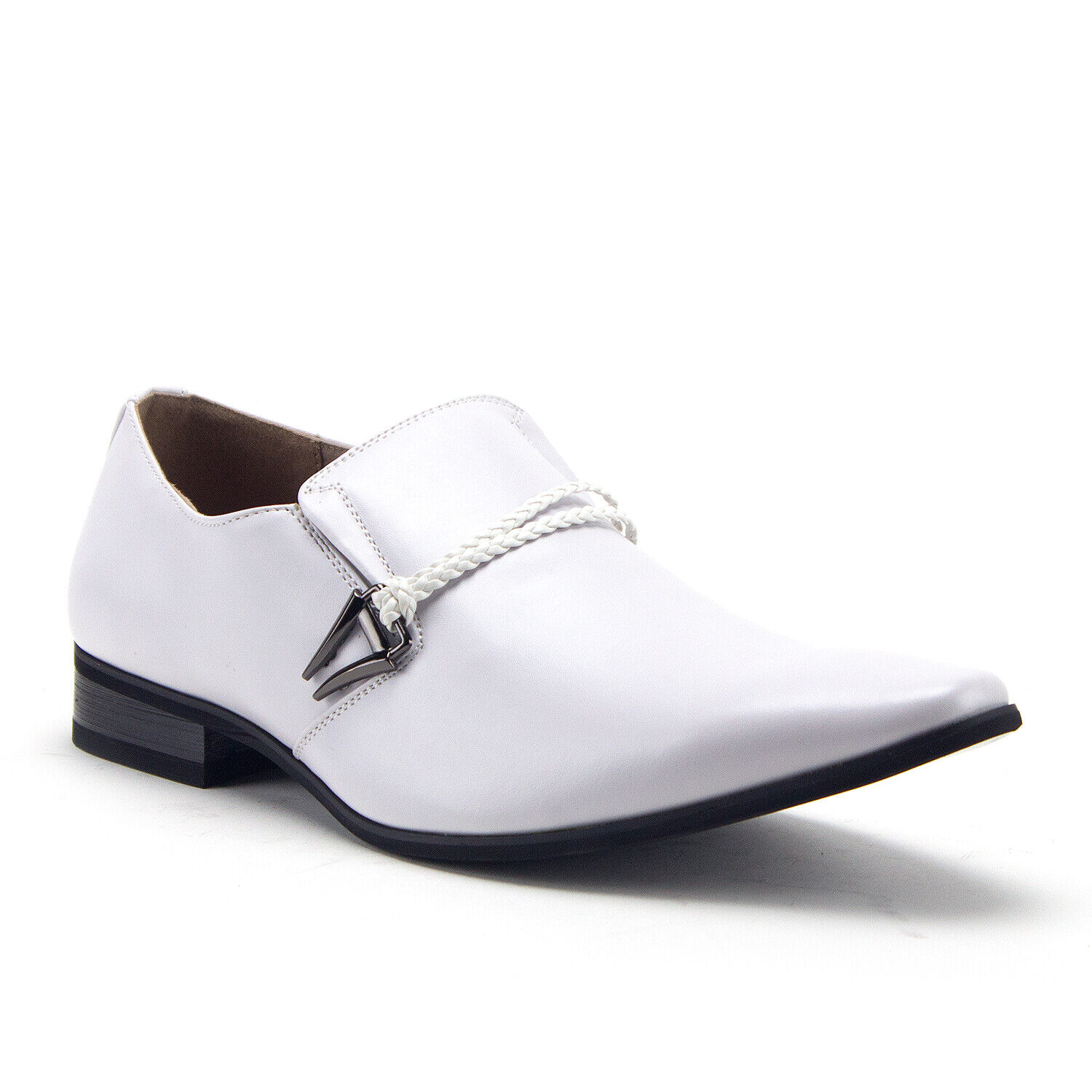 New Men's 98105 Classic Slip On Pointy Toe Belted Casual Loafers Dress shoes