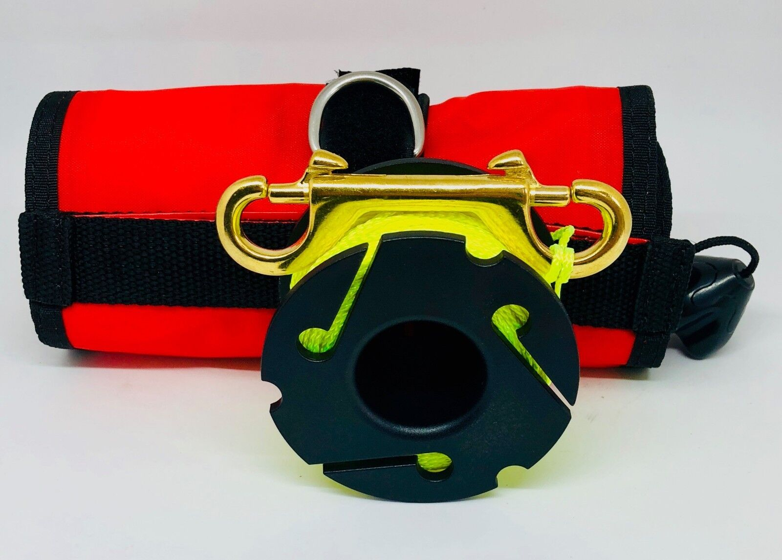Scuba Diving SMB DSMB 120x15cm with New Design 30m Yellow Finger Reel