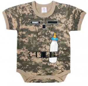 1pc Infant Bodysuit - Army Soldier - ACU DIGI | CAMO | BABY