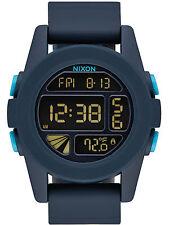 Nixon la unidad de Hombre Cronógrafo Reloj Correa De Silicona alarma A197-2224
