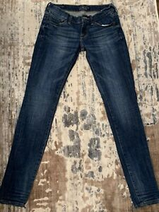 Lucky-Brand-Charlie-Skinny-Jeans-Dark-Wash-Low-Rise-Women-039-s-Tag-0-25-X-33-Inseam