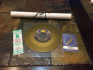 Grateful-Dead-30-Trips-Around-The-Sun-LP-Record-Scroll-Ticket-Backstage-Pass