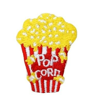 """Buttered Movie Popcorn  1-7//8/"""" x 2/""""  iron on patch"""