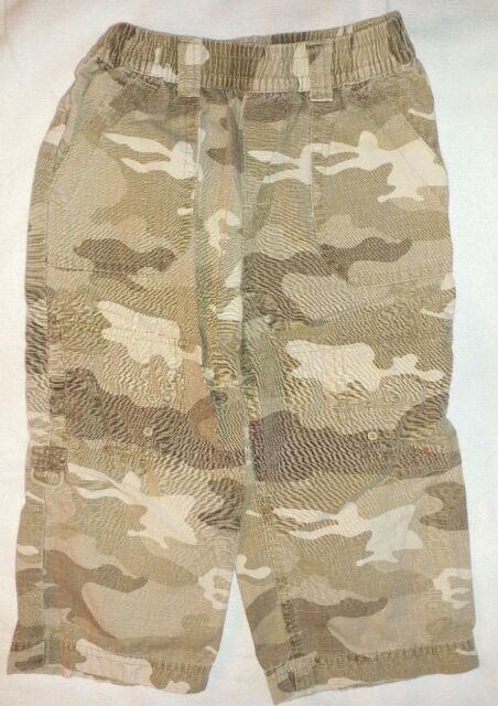 The Children's Place Boys Brown Elastic Waist Camouflage Pants Size 3T