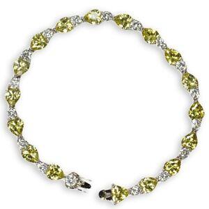 """Limone Unikate & Goldschmiedearbeiten Ehrlichkeit Armband """" Herzen """" Silber 925/000 Rhodiniert Mit 34 Zirkonia"""