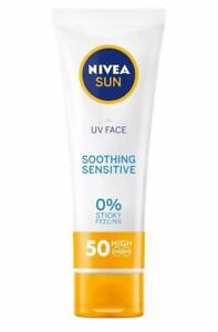 Nivea Sun UV Face Sensitive Soothing UVA/UVB, 0% sticky skinsunscreen SPF50