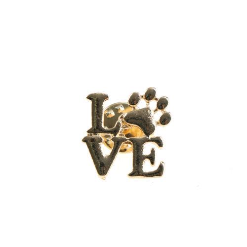 Love dog cat paw print pins brooch Pet memorial jewelry Keepsake jewelry new.