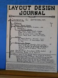Layout Design Journal 1982 September John Armstrong Southern Handout Ebay